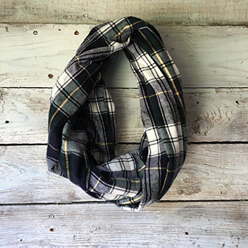 evergreen-green-and-white-plaid-flannel-infinity-scarf