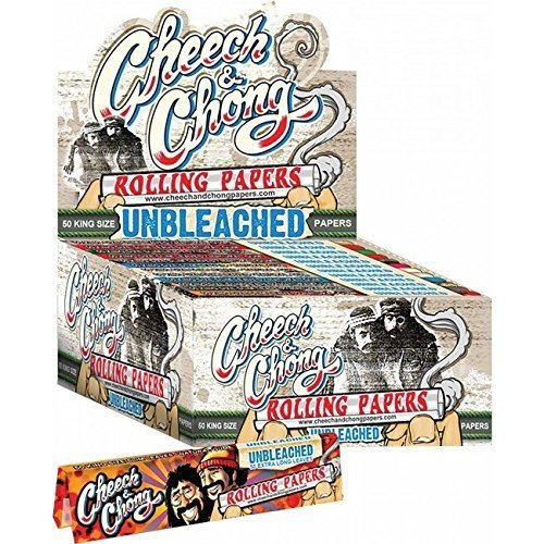 Cheech & Chong Unbleached Rolling Papers - King Size (1 Pack) (Cookies Grinder Weed compare prices)