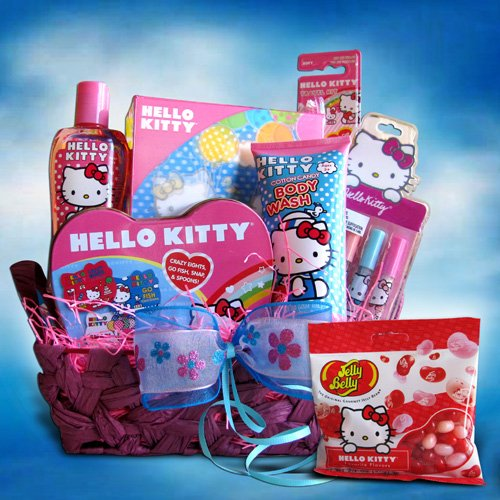 Hello Kitty Toiletry Gift Basket Ideal for Birthday