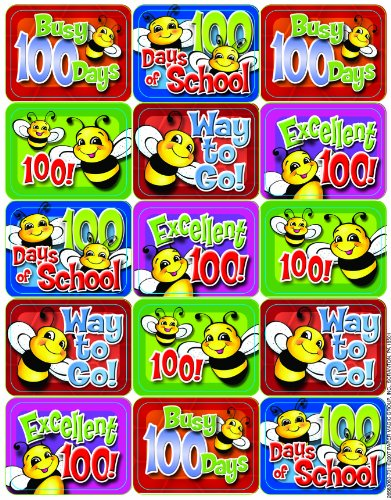 Eureka 100 Days of School Bees Stickers
