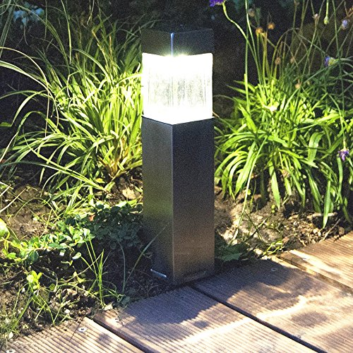 2PACK Satinless Steel Solar Bollard Super Bright Solar Lights Outdoor  Sogrand Solar Pathway Lights Solar Landscape Lighting Solar Path Lights  Solar Garden ...