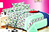 Go Hooked Double Poly Cotton Abstract Bed Sheet