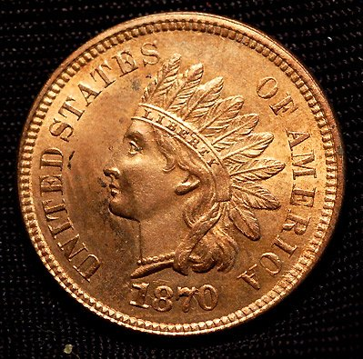 Buy 1870 Indian Head Penny MS-65 Red