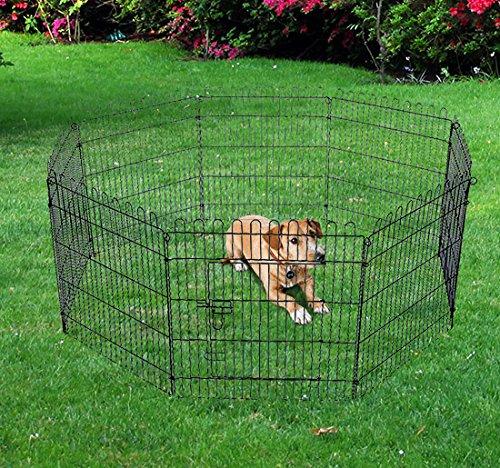 Outsunny recinzione per cuccioli animali cani box per for Recinto per cani amazon