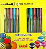 Uni-ball Scented Ink Rollerball Pens - Assorted Fruit/Sweet Scents, Gift Pack of 10