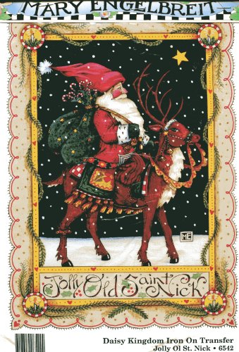Daisy Kingdom Jolly Old Saint Nick Iron-On Transfer by Mary Engelbreit