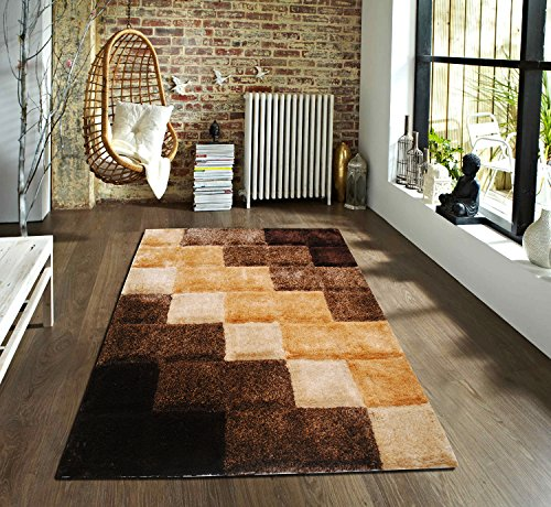 Flooring India 3D Blocks Carpet - 150 x 230 cms, Beige