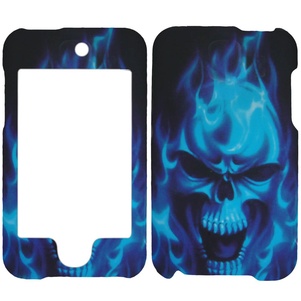 Blue Skull Apple Ipod 2 Itouch2 2nd Generations Itouch2 Skin Hard Case/cover/...