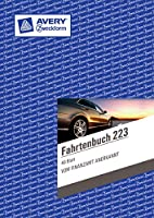 Avery Zweckform 223 Fahrtenbuch, DIN A5, steuerlicher km-Nachweis, 40 Blatt, weiß