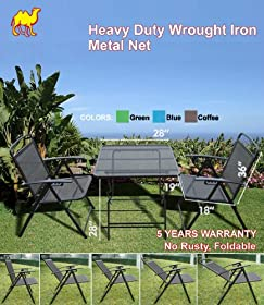 Fancy STRONG CAMEL PCS Bistro set Patio Set Table Chairs Outdoor Furniture Wrought Iron CAFE set
