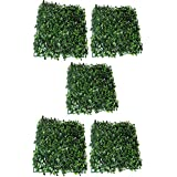 KAYKON Artificial PVC Eucalyptus Grass Mat For Home Decor, Wall Decor- Big Size 60 Cm/24 Inch (Pack Of 5)