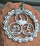 Triathlon Ornament in Wreath - Male