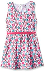 Hello Kitty Girls' Dress (HT0EDR1024_Candy Pink_2 - 3 years)