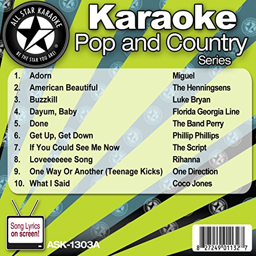 All Star Karaoke Pop and Country Series (ASK-1303A) (Karaoke Cds One Direction compare prices)