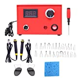 SEAAN Wood Burning Kit with 23 Tips, Dual Pen Pyrography Machine for Wood Burning Adjustable Digital Temperature Knob Electric Wood Burner Detailer for Wood/Leather/Gourd, 110V 50W (Tamaño: Dual Pen-50W)