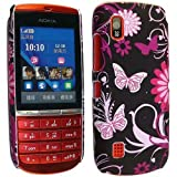 CONTINENTAL27 For Nokia Asha 300 Unique Design New Butterfly Printed Plastic Hard Shell Protective Back Fits Skin Case Cover