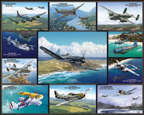 White Mountain Puzzles Airplanes of World War II - 1000 Piece Jigsaw Puzzle (1000 Piece Airplane Puzzle compare prices)