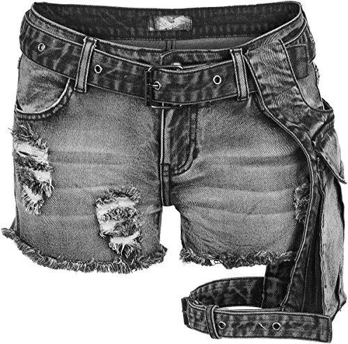 Rock Rebel by EMP Beltbag Hotpants Pantaloncini donna nero 29