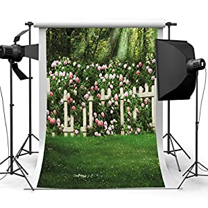 Mohoo 7X5ft Garden Silk Photography Backdrop Studio Prop Background 1.5×2.1m ?update material?