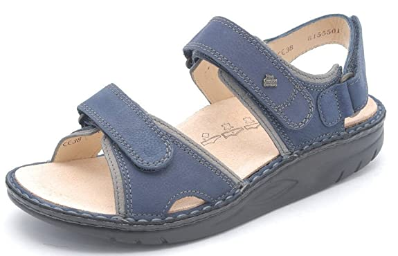 Finn Comfort , Sandales pour femme Bleu blau (lake/grey)