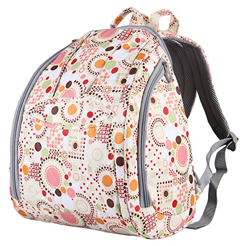 Hynes Eagle Adorable Print Diaper Backpack (Pink)