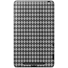 Amzer 95127 Luxe Argyle High Gloss TPU Soft Gel Skin Case - Clear For Google Nexus 7, Asus Nexus 7