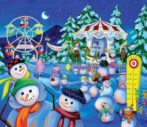 Snowman Carnival 200pc Jigsaw Puzzle by Joelle McIntyre