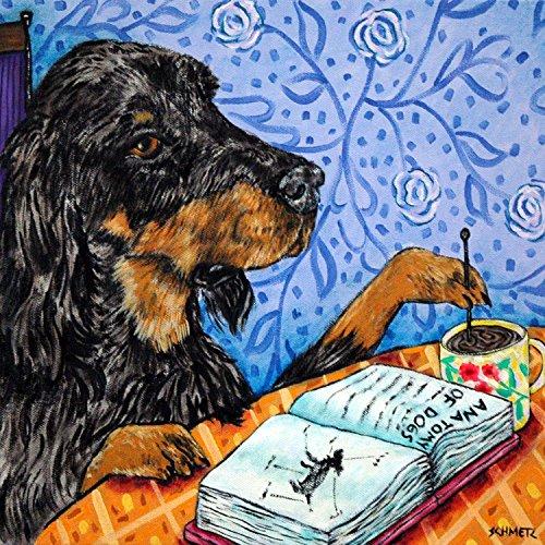 gordon-setter-at-the-coffee-shop-cafe-decor-dog-art-tile-coaster-gift