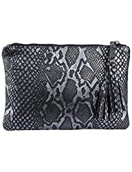 Massimo Italiano Women's Leather Wallet (Black)