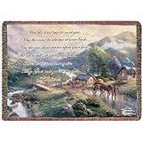 Thomas Kinkade Emerald Valley Tapestry Throw Blanket 50 X 60 In.