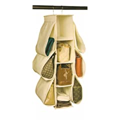 Richards Homewares Hanging Handbag Organizer-Canvas/Natural
