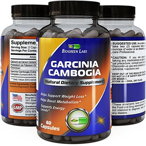 Diet+ Pure Garcinia Cambogia Extract Metabolism Booster - Real HCA Extract for Weight Loss - Decrease Carbohydrate and Sugar Cravings - Promotes Fat Loss & Curb Hunger - USA Made By Biogreen Labs