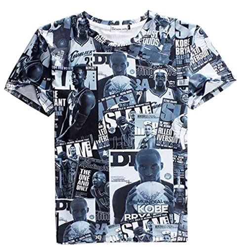 [Yadil Mens James NBA Celebrity Round Neck Short Sleeve 3D T-Shirts] (Easy Celebrities To Dress Up As)