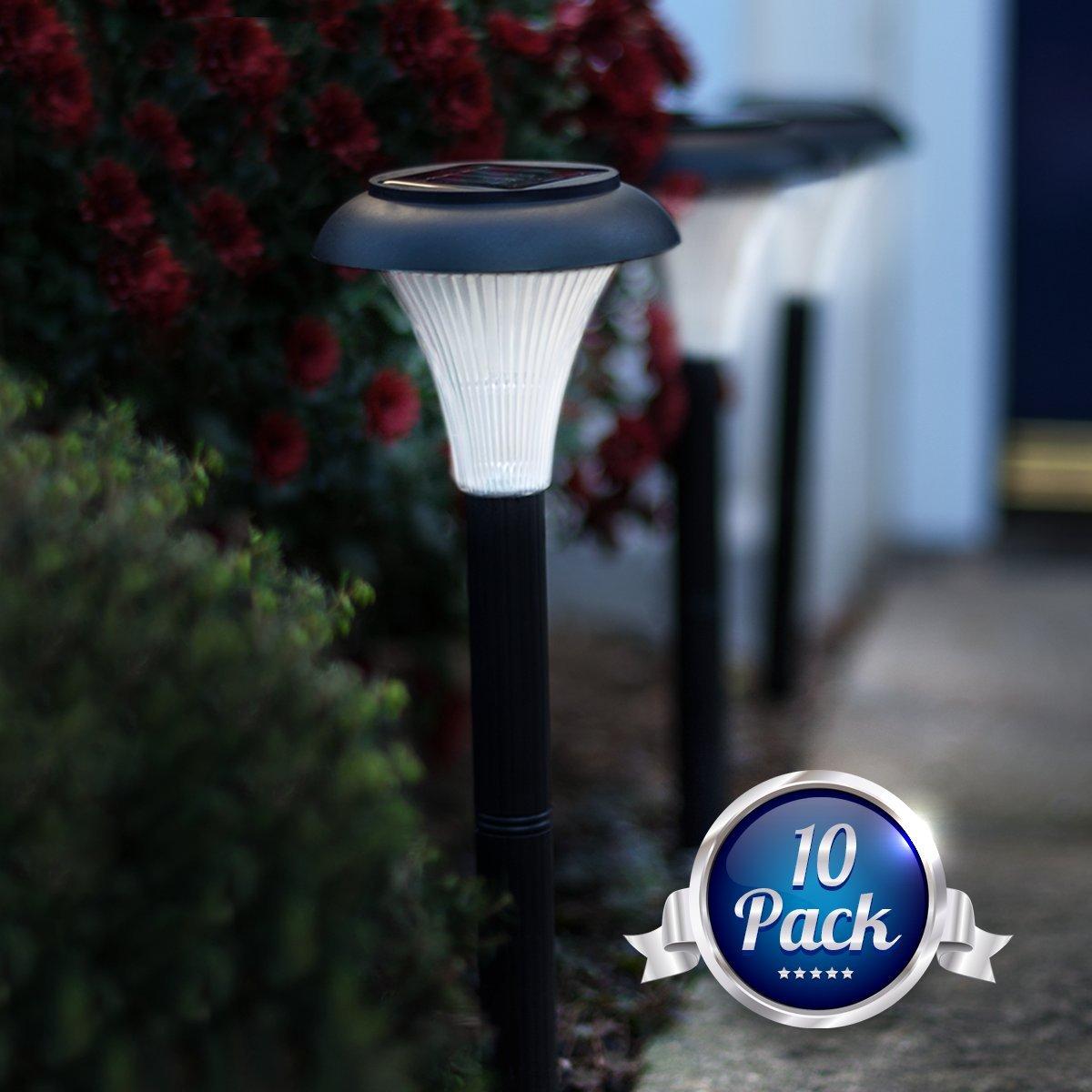 Solar LED Outdoor Light Set Of 10 Garden Lighting Path