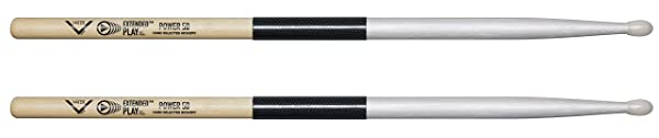 Vater Power 5B Extended Play Nylon Tip Drum Sticks, Pair