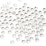 Queenme Clear Rhinestones Glue on Crystals Flatback Round Gems Glass Stones Crystal Clear SS30 6mm Crystals for Nails Shoes Crafts DIY Projects (Color: Glue on Rhinestones, Tamaño: Crystal Clear SS30 6mm)