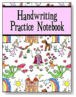 Handwriting Practice Notebook For Girls - The little princess in your life will love the cute storyland scene and pink banner on the cover of this handwriting practice notebook for younger kids.