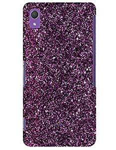 Purple Glitter case for Sony Xperia Z2