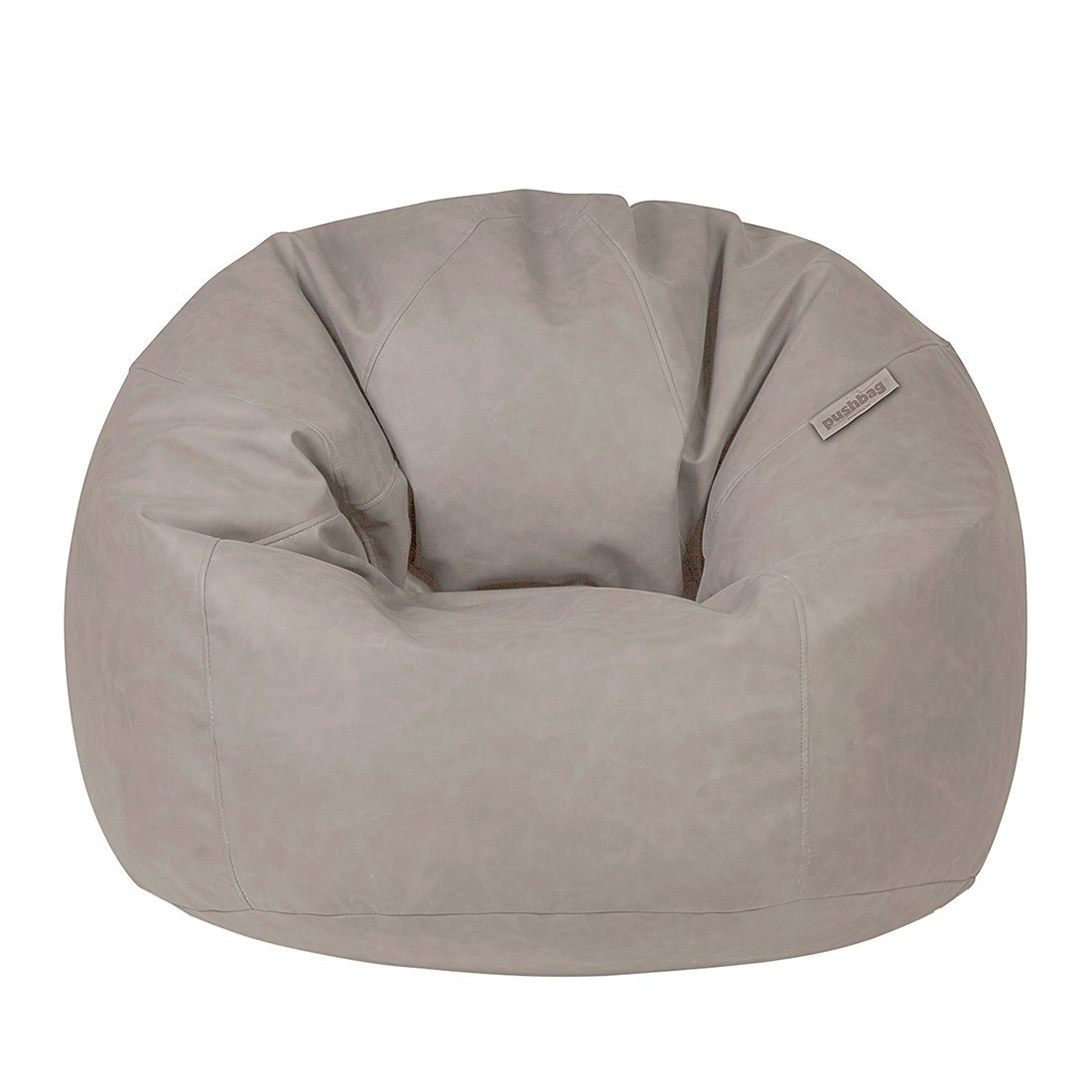 Pushbag Sitzsack Toby aus Kunstleder Material, 90×75 cm, 500l, taupe günstig