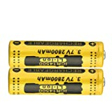 Kuerqi AA Li-ion Rechargeable Battery, 2 Pieces/Pack 3.7V 2800mAh High Capacity 14500 Lithium Betteries for Flashlights, Alarm Clocks, Remote Controls and More, Long Lasting, Packaging May Vary (Color: 2-pack)