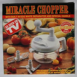 Miracle Chopper Salsa Maker w/ Built in Egg White Separator