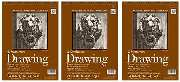 Strathmore (400-107 400 Series Drawing, Smooth Surface, 14x17, 24 Sheets (?hree P?ck) (Tamaño: ?hree P?ck)