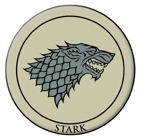 "Dark Horse Deluxe Game of Thrones 3"" Embroidered Patch Stark"