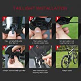 XIAOKOA-Bike-Taillights-Intelligent-Anti-Theft-Bicycle-Tail-Light-Alarm-LED-Cycling-Laser-StrobeWarning-Electric-Bell-with-Wireless-Remote-USB-Cable-Mountain-Accessories
