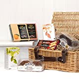 Traditional Tea & Biscuits Christmas Gift Hamper in Luxury Brown Wicker Basket Gift ideas for - Valentines,Presents,Birthday,Men,Him,Dad,Her,Mum,Thank you,Wedding Anniversary,Engagement,18th,21st,30th,40th,50th,60th,70th,80th,90th