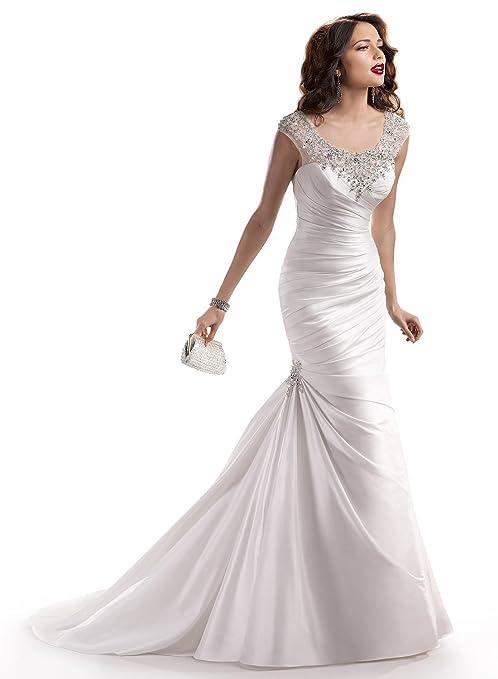 Dlass Crystal Mermaid Wedding Dresses 2014 Bridal Gown