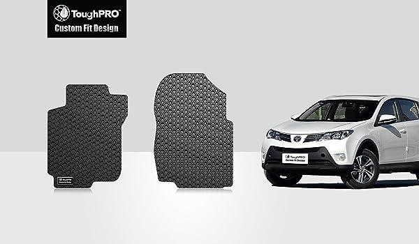 ToughPRO Heavy Duty Black Rubber Custom Fit For 2013-2018 Toyota RAV4 Cargo Mats