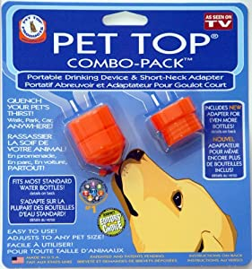 Pet Top® Combo-Pack (Portable Drinking Device & Short-Neck Adapter)