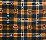 "Chicago Bears NFL Licensed Plaid Fleece Fabric 60"" Inches Wide-by the Yard at Amazon.com"