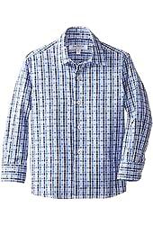 Isaac Mizrahi Little Boys' Two-Tone Checker Shirt